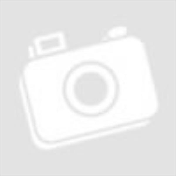 Üveglencsés duo dots fülbevaló - fekete textilbőr, virágos minta